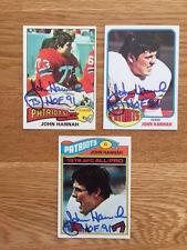 Patriots John Hannah Signed 1976 Topps card