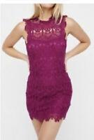 Intimately Free People Women's Daydream Lace Slip Mini Dress Magenta Size Small