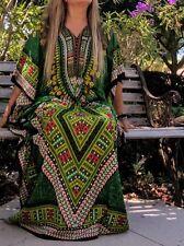 Women's Caftan Dress Kaftan dashiki Hippie Gipsy Boho Maxi Beach Cover Plus