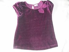 Cherokee girls dark pink velvet short sleeve top 4-5 years autumn winter