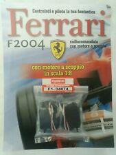 Ferrari Formula 1 F2004 De Agostini Kyosho a Scoppio Ricambio N°74 04074 Nuovo