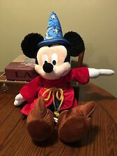 "Disney Parks Mickey Mouse Fantasia Plush 22"" Sorcerer Wizard Hat"