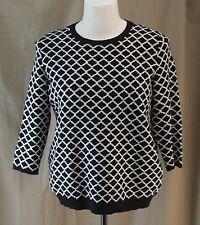 Liz Claiborne, XL, Jacquard Black Multi Sweater, New with Tags
