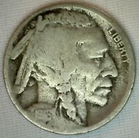 1916 S Buffalo Nickel Indian Head Five Cent US Type Coin Good 5c K2