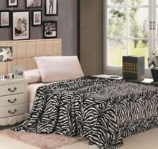 Zebra Animal Blanket Super Soft Throw Bedding Fleece Queen Multiple Colors