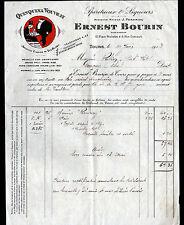 """TOURS (37) DISTILLERIE / QUINQUINA VOUVRAY """"J. PERDRIAU / Ernest BOURIN"""" en 1913"""