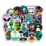 ET Cartoon Alien Toy UFO Sticker For Laptop Luggage Fridge Skateboard 50Pcs