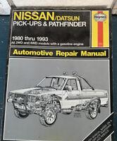 Haynes Owners Repair Manual    Nissan Datsun Pick Ups Pathfinder 1980 thru 1993