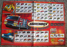 Matchbox 2002 Series Poster  Catalog Single Sided