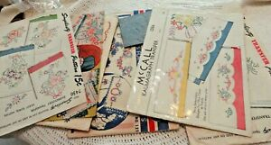 Vintage Hot Iron Pattern Transfers Embroidery Very Large Lot Please See All Pics