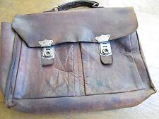 Cartable ancien cuir  belle patine