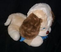 VINTAGE 1990 YDC COMMONWEALTH TAN PUPPY DOG BLUE TEARS STUFFED ANIMAL PLUSH TOY