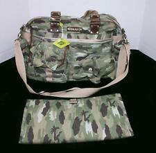 OILILY Boys Camouflage Jungle Safari Elephant Diaper Bag & Changing Pad NWT aa