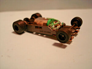 TOMY AFX H.O. SCALE MEGA G+ 1.7 NARROW CHASSIS WITH BLACK RIMS SEE DETAILS