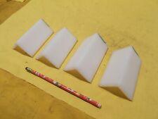 "4 pc Lot of Uhmw Angle 1/4"" x 2"" x 2"" x 4"" machinable plastic bar stock"