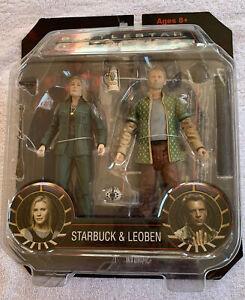 Battlestar Galactica Starbuck & Leoben Figures New