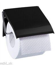 Blue Canyon Retro Classic Metal Wall Mounted Bathroom Toilet Roll Holder - BLACK