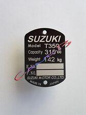 PLAQUE   SUZUKI   T 350