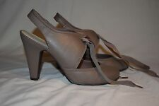 Dorothy Perkins High Open Court shoes. Taupe size 6.  RRP £28.