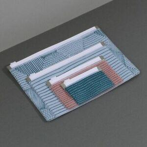 Set of 4 ZIPPY WALLETS zip cases nick nack holder pouch ZIPLOCK organiser gift