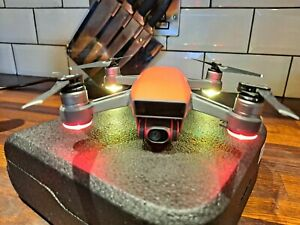 DJI Spark Drone Red With Extras USED GPS WIFI Drone