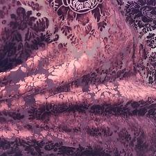Purple Imperial Sheer Cut Velvet By the yard