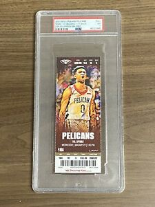 ZION WILLIAMSON - NBA Debut Ticket New Orleans Pelicans v Spurs PSA 7