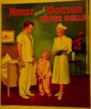 """New listing 1952 """"Nurse and Doctor"""" Paper Doll Book by Saalfield 10.75 x 12.75 inch Lot 173"""