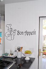 Baker & Bon Appetit Kitchen Wall Sticker Wall Art Vinyl Kitchen Sign