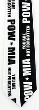 NEW! POW - MIA You Are Not Forgotten Military Prisoner Novelty Necktie P359-K