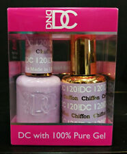 DND DC Soak Off Gel Polish Chiffon 120 LED/UV 6oz 18ml Gel Duo Set NEW