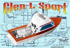 Build model boat R/C Glen-L Sport Fisherman full size Printed PLANS