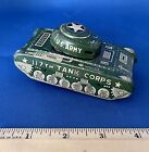 Vintage Antique Linemar Tin Toys Metal 117th Tank Corps Us Army Military Tank