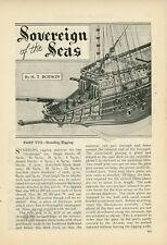 1933 Building Ship Model Sovereign of the Seas How To Do Standing Rigging
