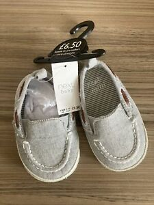 Next Baby Boy Shoes 6-12 Months New