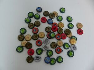 Lot of 55 Beer Bottle Caps - SOME DENTS - GREAT FOR ARTS & CRAFTS