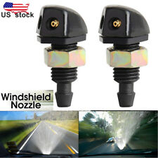 2 pcs New Universal Auto Car Vehicle Front Windshield Washer Sprayer Nozzle US