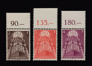 LUXEMBOURG 1957 EUROPA set of 3 top imprint - 91897