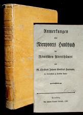 1786 Anmerkungen über Nieupoorts Handbuch der römischen Alterthümer Haymann