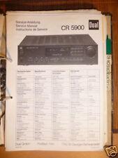 Service-Manual für Dual CR 5900  Receiver,ORIGINAL