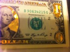 "1 $ -22 K GOLD $1 DOLLAR BILL""HOLOGRAM COLORIZED-USA NOTE ..LEGAL CURRENCY MONEY"