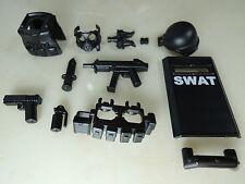 (NO.45-2 custom lego swat police helmet military gun army weapon