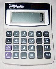 """Gray 3 1/4 X 4 1/2"""" Resin Canon LS-822 Solar Portable Calculator"""