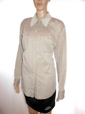 Womens Vtg Mother of Pearl Collar Formal Tailored Office Shirt Blouse sz 14 AH45