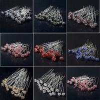 Wholesale 20PCS Wedding Bridal Pearl Flower Crystal Hair Pins Clips Bridesmaid