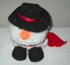 #1576 NWT Retired Swibco Puffkins Flurry the Snowman Plush DOB12/01/97