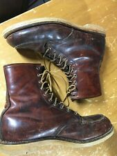 Vtg 60-70s RED WING BOOTS 811 Moc Toe Logger Mens 10.5 B Insulated Irish Setter?