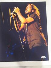EDDIE VEDDER (Pearl Jam) Signed 11x14 Concert PHOTO w/ PSA LOA & Graded 10