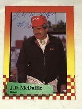 J D McDuffie signed 1989 MAXX NASCAR WINSTON CUP #70 card RARE! LEGEND VINTAGE