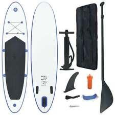 vidaXL Stand-up Paddleboard Opblaasbaar Blauw en Wit Surf Plank SUP-board